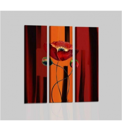 OLIVER - Modern painting orange flower