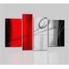 EDVIGE - Quadri moderni colori principali rosso e grigio