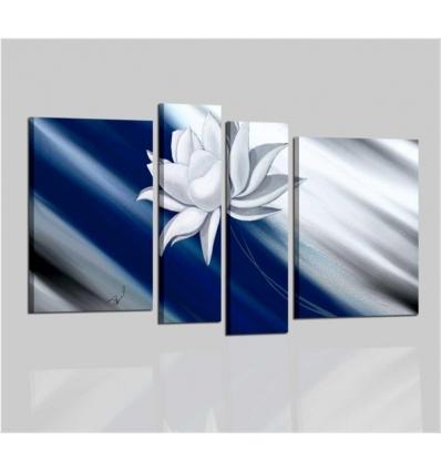 AIDIA - Cuadros modernos para la decoración - azul