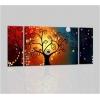EMMY - Pinturas moderna con colores brillantes y arbol