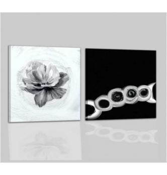 AUGUSTA - Cuadros moderno blanco y negro