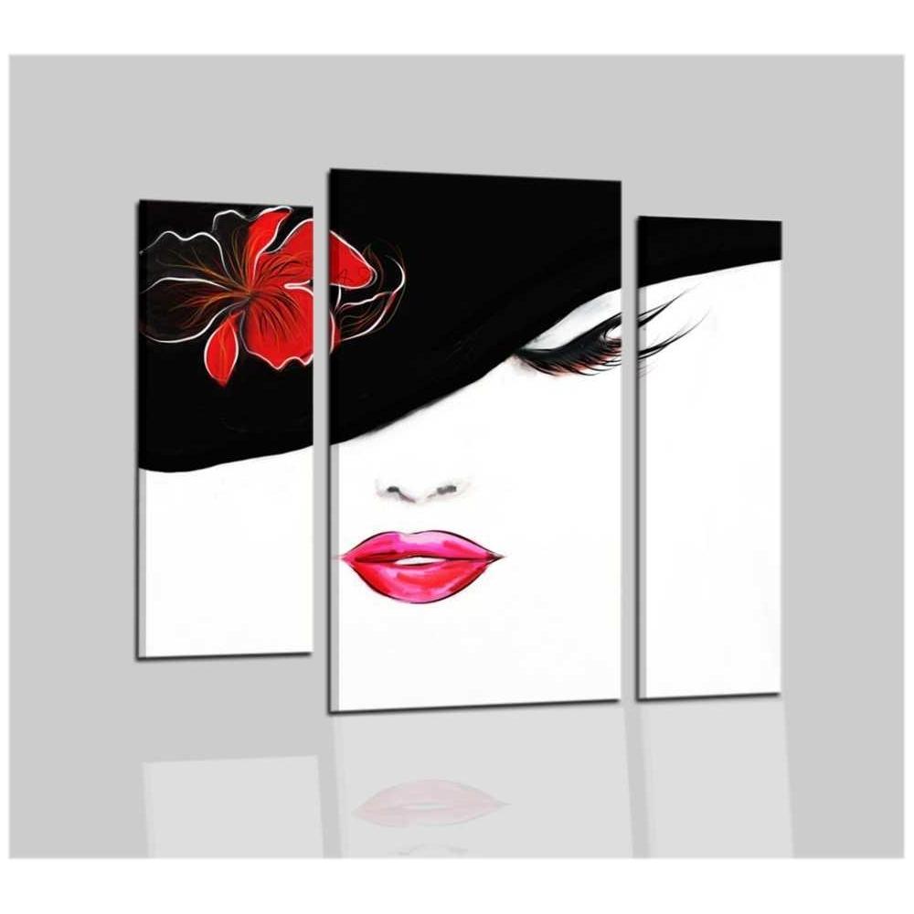 Quadri moderni dipinti a mano bianco nero rosso addy for Quadri moderni in offerta