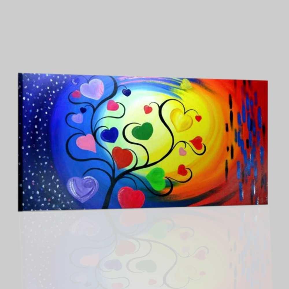 Salotto Colore Giallo : Quadro astratto colorato con rosso giallo e blu