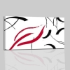 TORTUOSO - Quadri astratti rosso bianco e nero