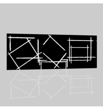 TOBAGO - Quadro astratto bianco nero