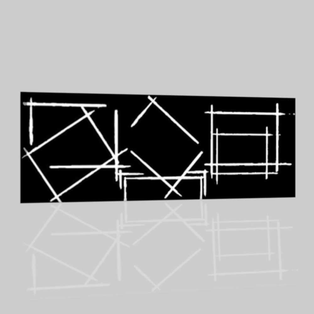 Quadro moderno componibile bianco e nero tobago for Dipinti moderni bianco e nero