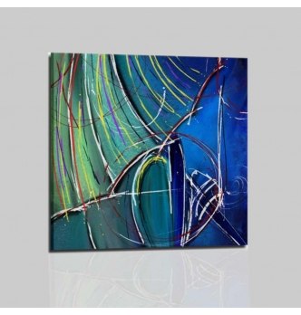 Cuadros abstractos mujer con sombrilla - Gardis