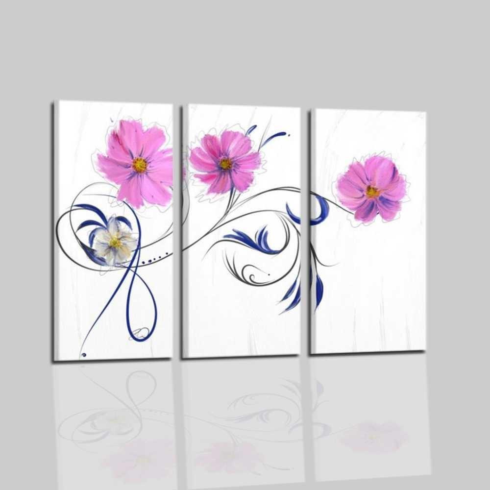 Quadri moderni trittico con fiori