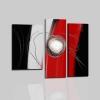 ADA - Quadri moderni trittico rosso nero