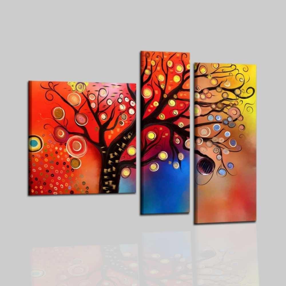 quadri moderni dipinti a mano trittico