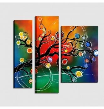 Quadro moderno dipinto a mano con albero - BERENICE