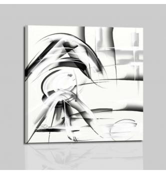 Quadro astratto bianco nero - ABBEY