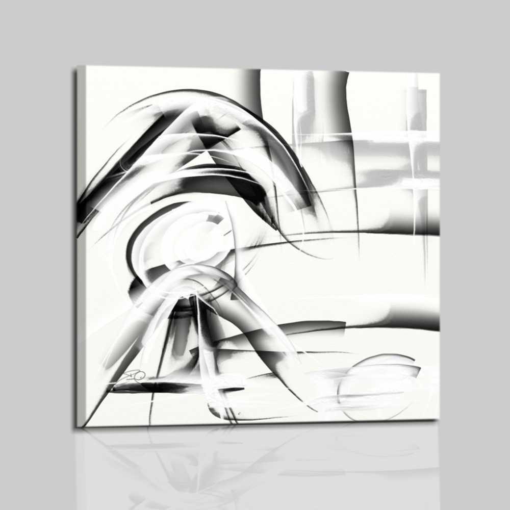 Salon Simple : Cuadro abstracto blanco y negro para salon oficina