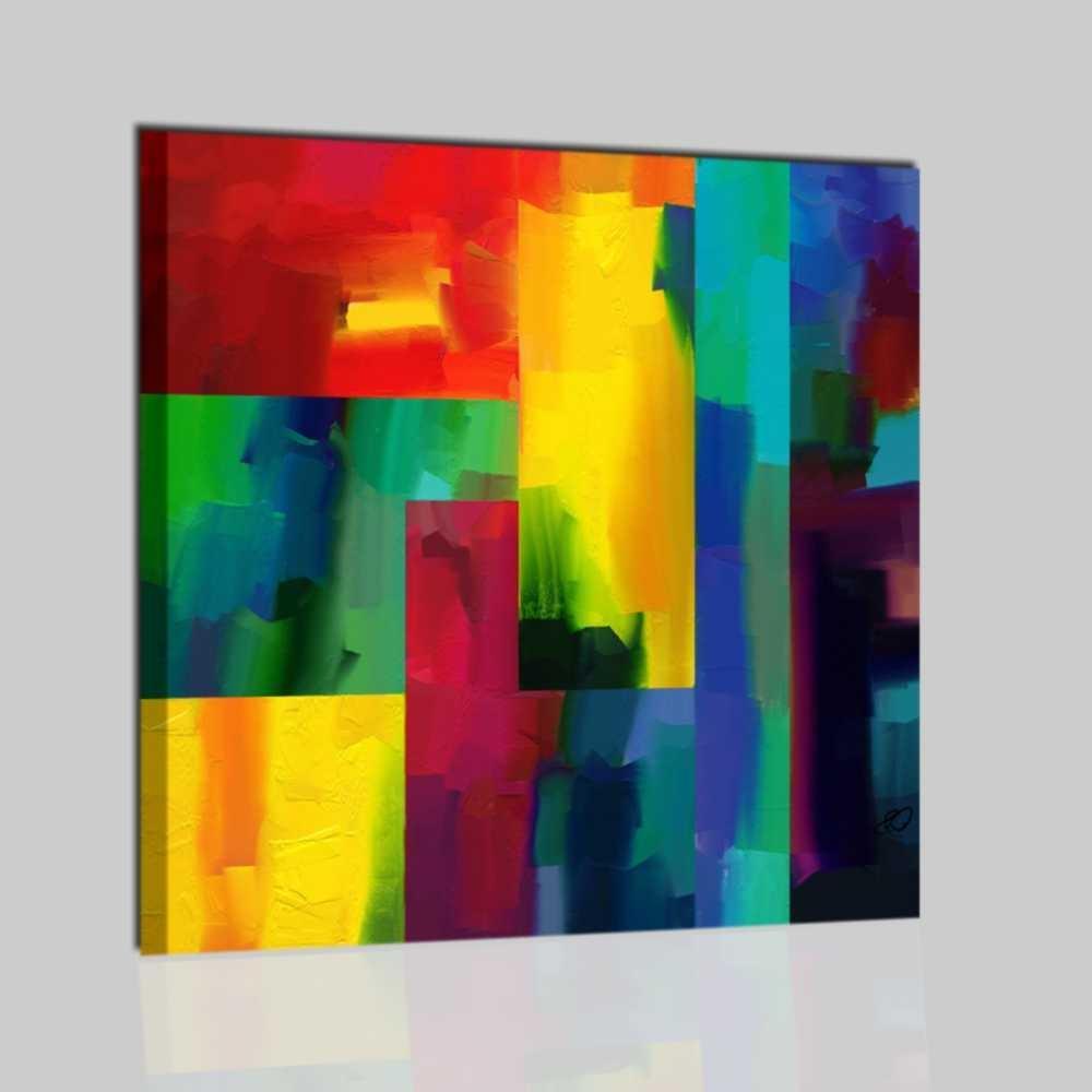 Quadro astratto dipinto a mano brett for Tele astratte dipinte a mano