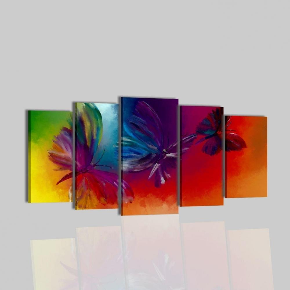 Dipinti moderni dipinti a mano mariposa 5 for Dipinti figurativi moderni