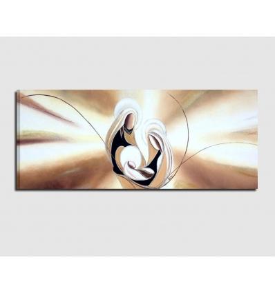 Quadri capezzali dipinti a mano - Amore e fede 2