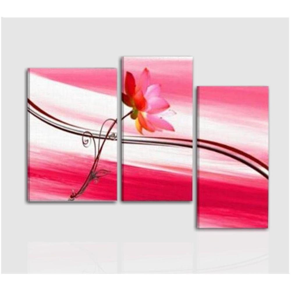 Quadri moderni astratti dipinti a mano olio su tela fiori for Quadri moderni astratti dipinti mano