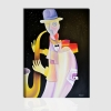 KAUS - Cuadro moderno musico que toca el saxfon