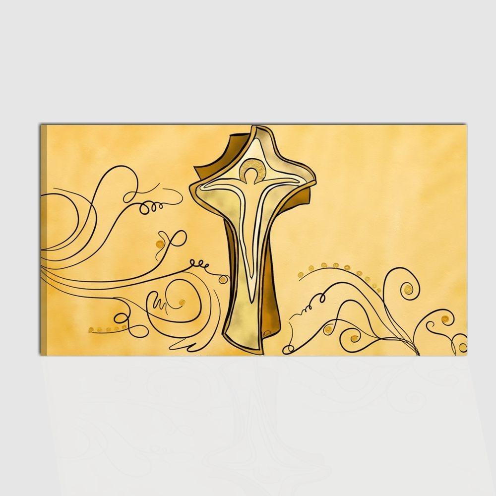 Quadro capezzale religioso dipinto a mano per camera da letto - Sacro 3