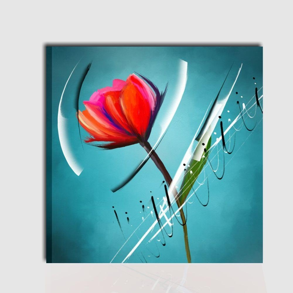 Modern painting with flower- Breanna - I Colori del Caribe