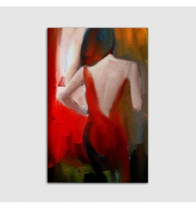 Quadri moderni dipinti a mano donna di schiena - SENSUALITA'