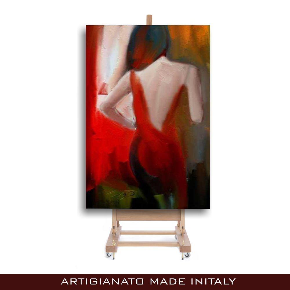 Quadri moderni dipinti a mano donna di schiena for Dipinti a mano moderni