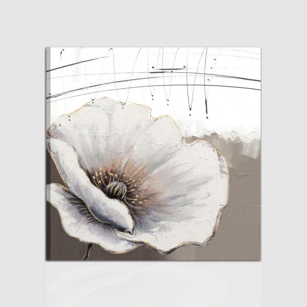 Quadri astratti con fiori e con effetto rilievo - Bohemia