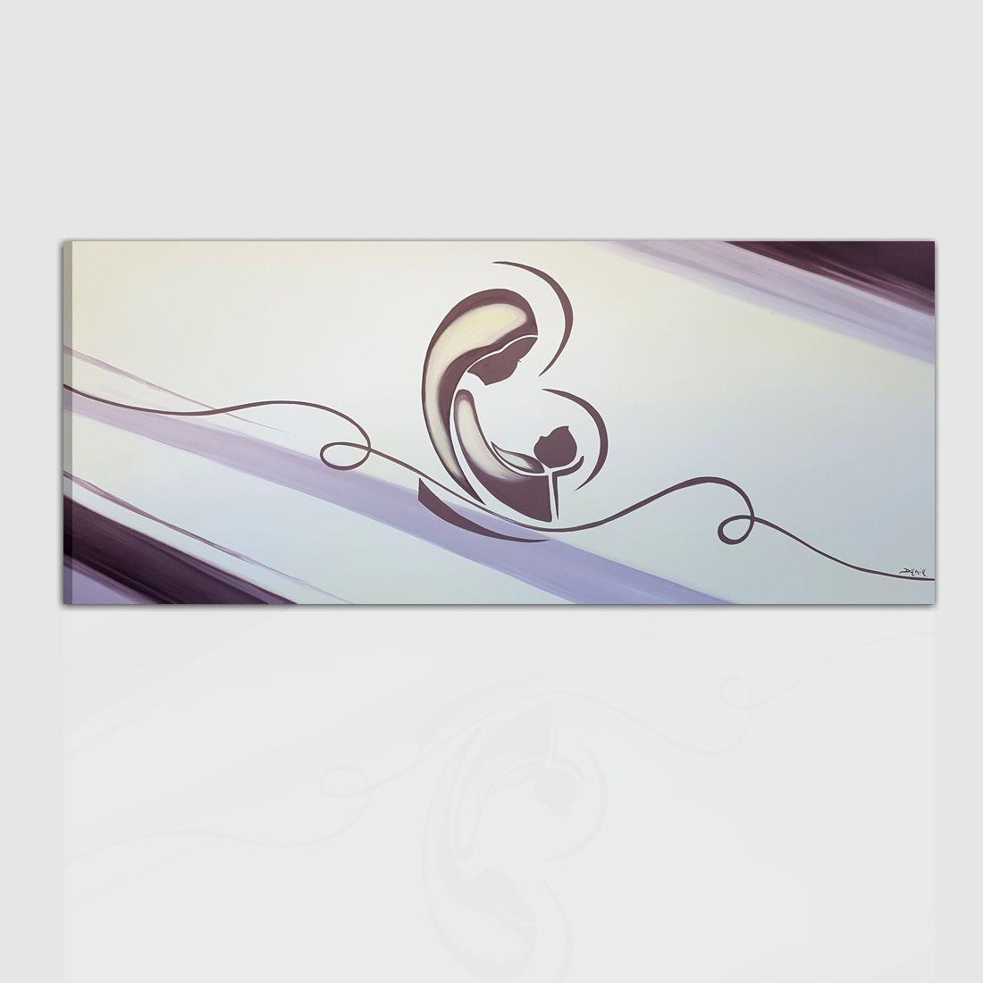 Quadro moderno capoletto per camera da letto - Immacolata 2