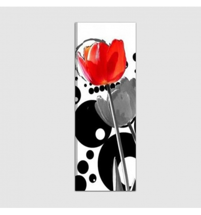 BERAN - Flores en el fondo abstracto