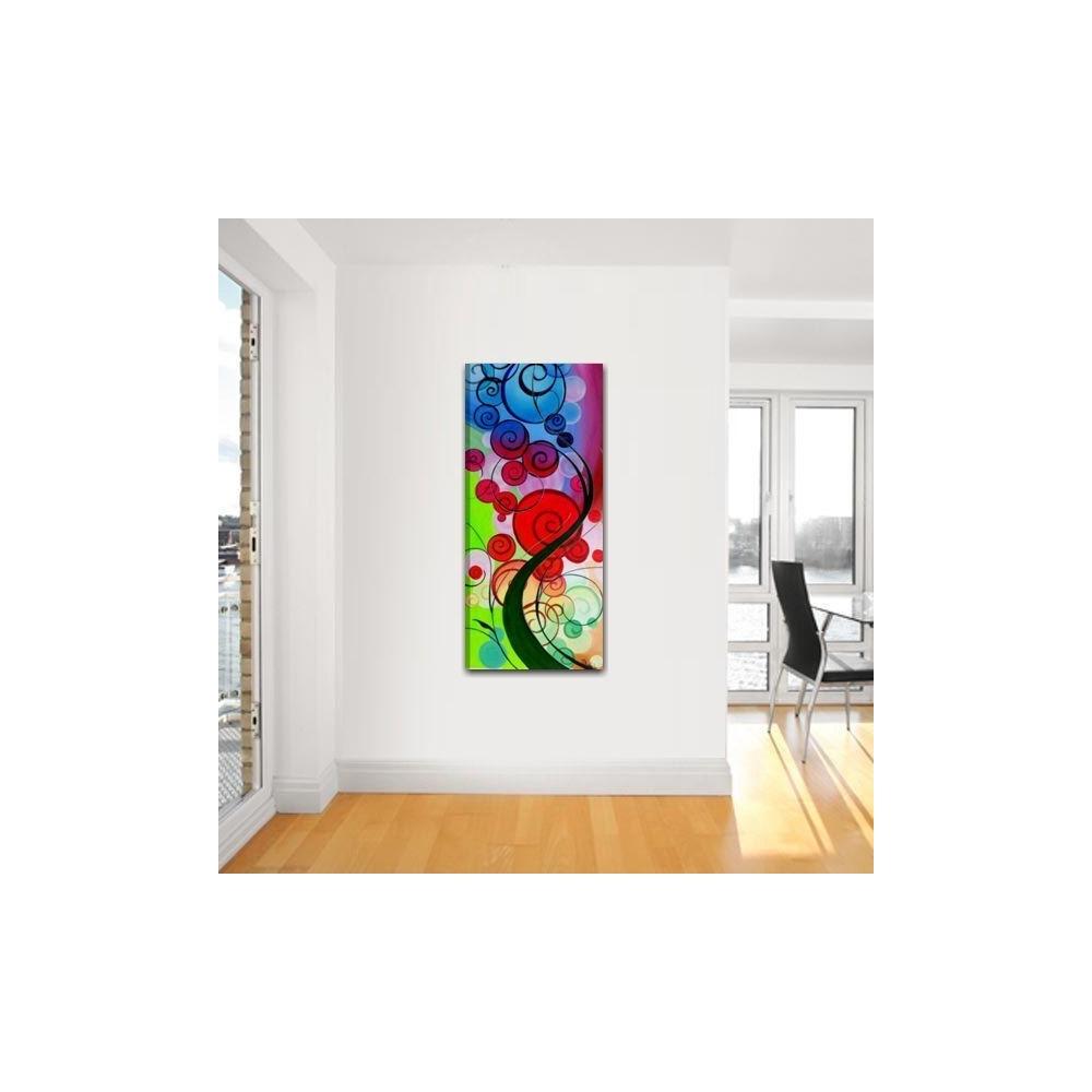 quadri moderni dipinto a mano colorati con albero