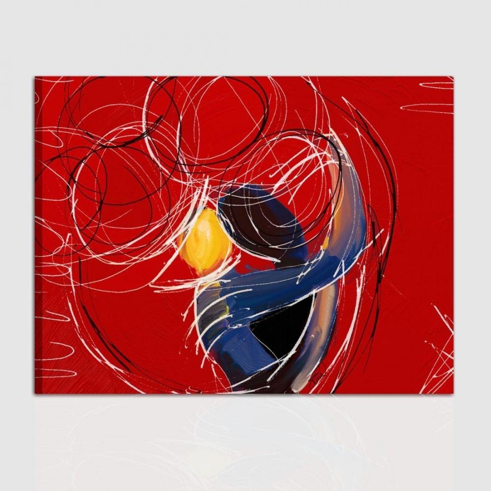 Quadro Dipinto A Mano Stile Moderno Raffigurante Abbraccio