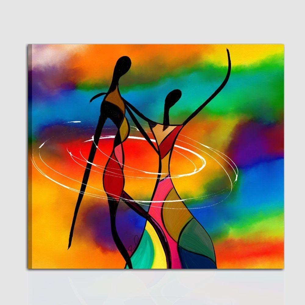 Quadro moderno dipinto a mano colori vivaci for Colori moderni