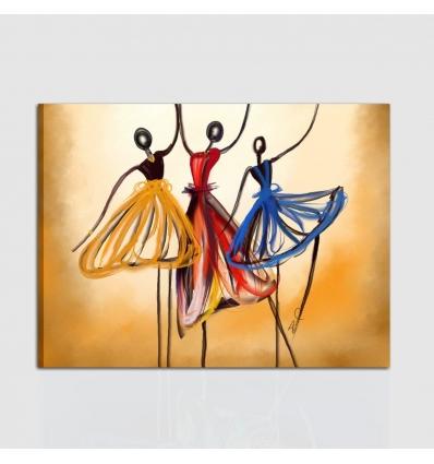 Quadro moderno musica dipinto a mano ballo di gruppo