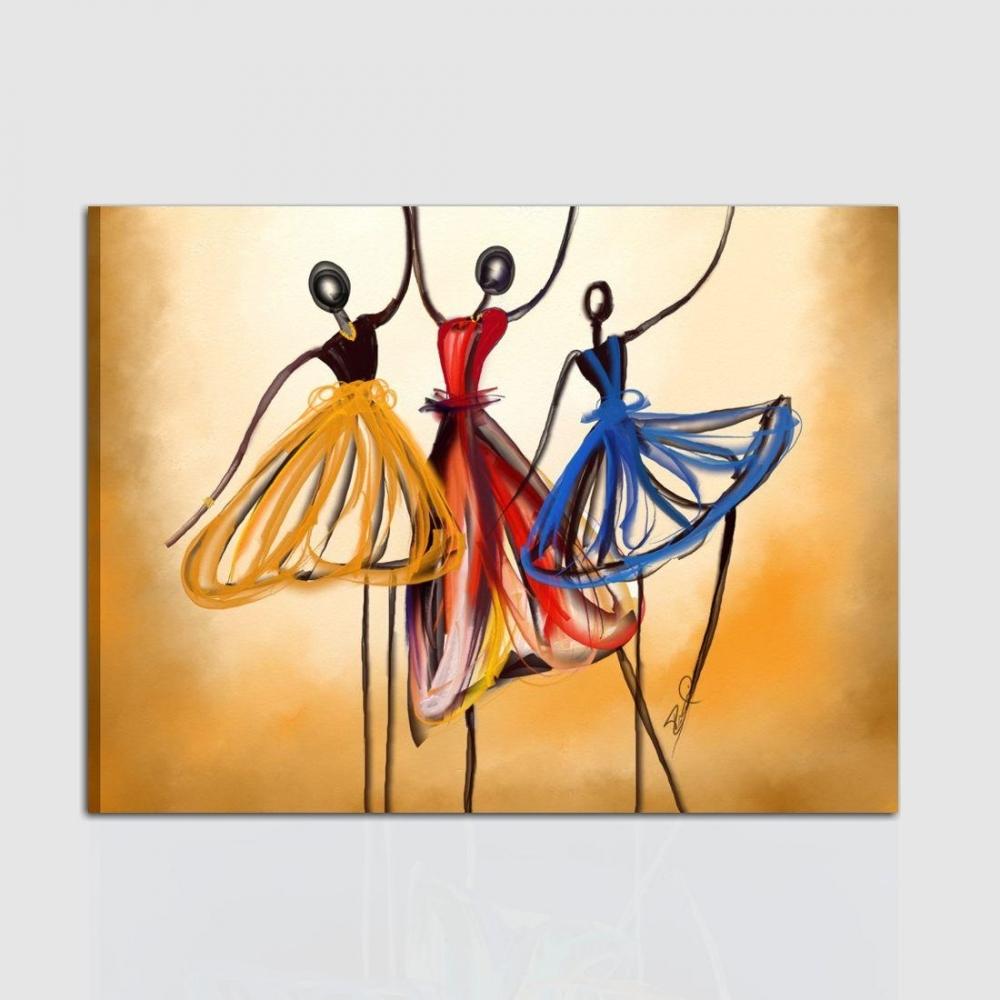 Quadro Moderno Dipinto A Mano.Quadro In Stile Moderno Dipinto A Mano Acrilico Su Tela Con Raffigurazione Di Un Ballo Di Gruppo
