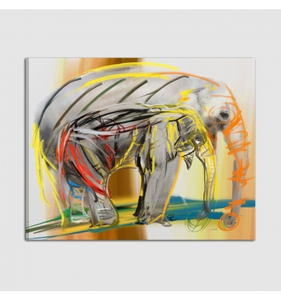 Quadri moderni figurativi - gli elefanti