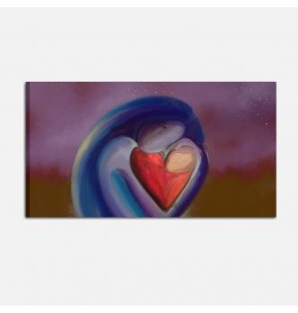 Quadro moderno dipinto a mano - Il calore materno
