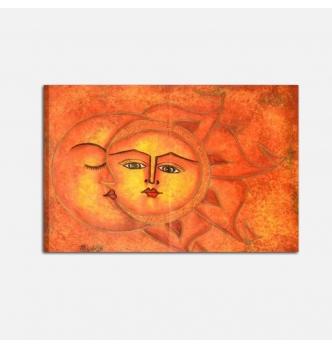 SOLE LUNA 6 - Cuadro etnico sol y luna