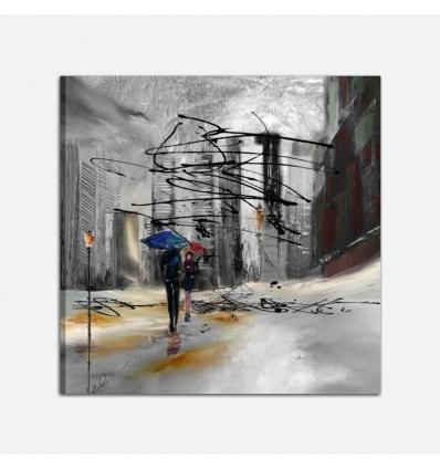 Quadro moderno dipinto a mano - Detroit