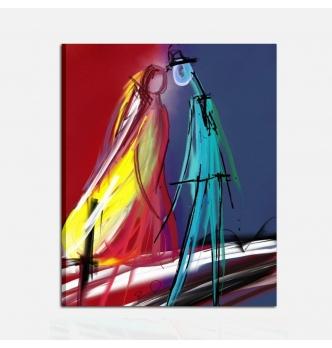 Modern painting - raffigurazione di sposi