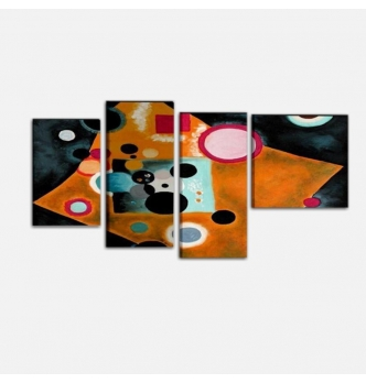KANDINSKY ACCENT EN ROSE - Abstract Painting