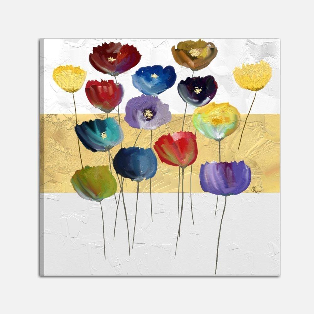Quadro dipinto a mano con raffigurazione di fiori for Amazon quadri