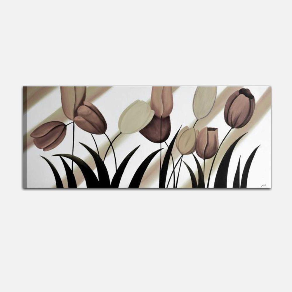 Quadro moderno dipinto a mano con fiori
