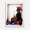 SAXPHONE - Dipinti moderni uomo con sax
