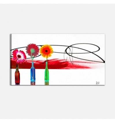 BARCLAY - Cuadros abstractos con flores