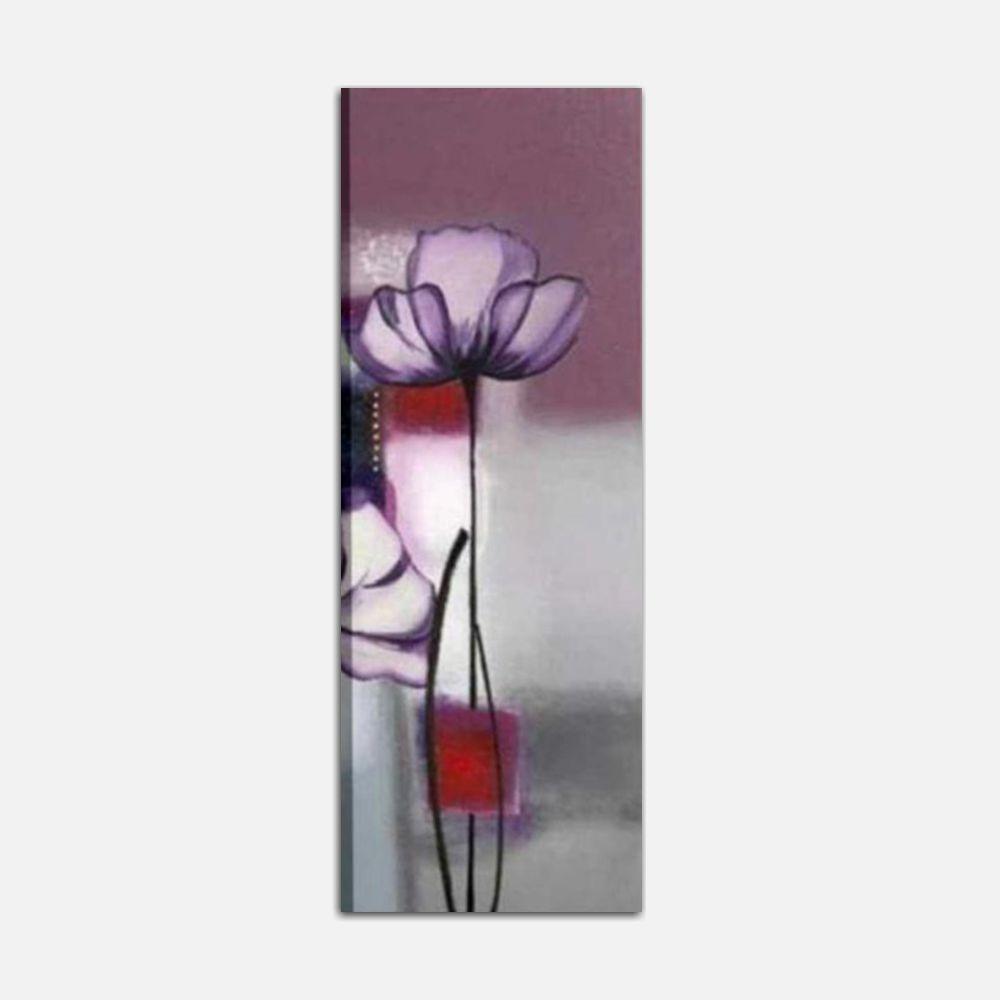 Quadri moderni verticali con fiore dipinti a mano - Dany