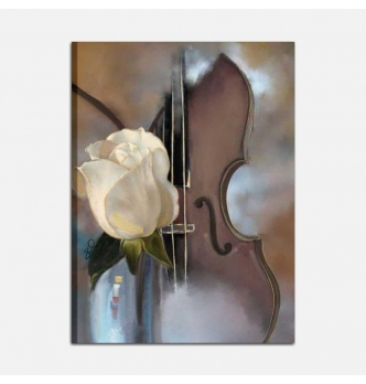 Quadri moderni musica - La rosa e il violino