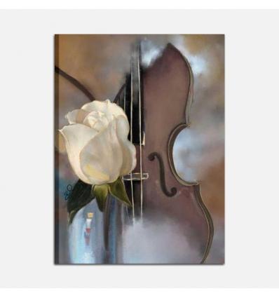 Quadro moderno musica - La rosa e il violino
