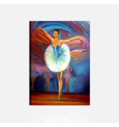 A SCUOLA DI DANZA - Quadro moderno con ballerina