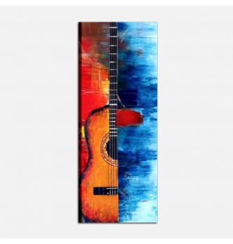 MUSICA 2 - Dipinto musicale verticale chitarra
