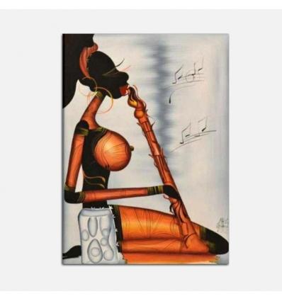 Quadro moderno dipinto a mano Musicista di clarinetto